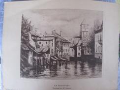 ALSACE 5 GRAVURES . EAUX FORTES . STRASBOURG ET RIBEAUVILLE DONT 2  G KRAFFT - Posters
