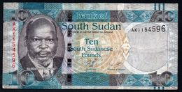 SOUTH SUDAN 10 POUNDS ND 2011 F-VF P-7  (free Shipping Via Regular Air Mail (buyer Risk) - Soudan Du Sud