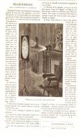 VEILLEUSE-HORLOGE Pour La Projection D'une Montre     1884 - Clocks