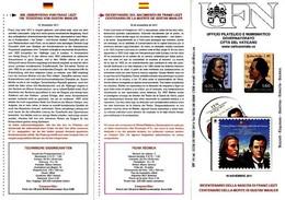 VATICANO – VATICAN CITY - VATICAN - 2011 NASCITA DI FRANZ LISZT E MORTE DI GUSTAV MAHLER - Vatikan