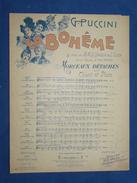 PARTITION***GF PIANO CHANT OPÉRA PUCCINI LA BOHÊME SOLO DE MIMI RICORDI 1900 - Opera
