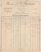 69 CALUIRE & Cuire FACTURE 1916  BRASSERIE RADISSON Bières     Z19 Bière - France