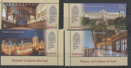 ROMANIA, 2017, MNH,ARCHITECTURE, CULTURE, PALACES, IASI,4v - Architecture