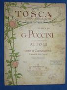 PARTITION GF PIANO CHANT OPÉRA PUCCINI TOSCA SOLO CAVARADOSSI SARDOU ILLICA GIACOSA RICORDI 1900 ILL MONTALTI - Opera
