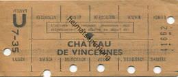 Frankreich - R. A. T. P. Metro Paris - Wochenkarte - Fahrkarte - Bahn