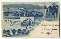 AK Schweiz ZH Gruss Aus Buchs Ges 16.07.1900 Oerlikon Litho Chr. Steiner #2216 - ZH Zurich