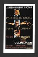 AFFICHES - POSTERS - CINÉMA - JAMES BOND AGENT 007 -  US POSTER FOR GOLDFINGER (1964) - Affiches Sur Carte