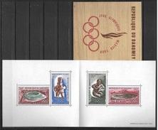 DAHOMEY 1968 - OLYMPICS MEXICO 68 - YVERT BLOCK Nº 15** BOOKLET - Verano 1968: México
