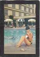 Guatemala-Guatemala Biltmore Hotel,Pretty Lady By The Pool 1971 - Mint Antique Postcard - Guatemala