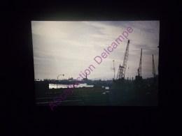 Diapositive Slide Diapo 1968 Italie Italy Genes Coucher De Soleil Sur Le Port - Diapositive