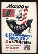 RICCIONE 1975 - GIOCHI SENZA FRONTIERE - JEUX SANS FRONTIERES - SPIEL OHNE GRENZEN -  CARTOLINA MAXIMUM - Giochi Regionali