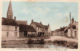CPA CAMBRONNE LES CLERMONT - LE CENTRE DU BOURG - LA MARE - France