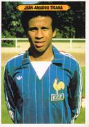 Carte Style Fiche - Joueur De Foot. - Jean-Amadou TIGANA - Mini-Posters - Dos Palmarès - Football