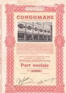 CongoMane - Part Sociale - Capital 10 000 000 Francs - Afrique