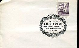 19296 Austria Special Postmark  1981 Altmunster SOS Kinderdorf  , Childrens Village , Village D'enfants - Childhood & Youth