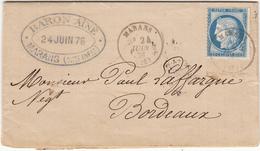 MARANS   LAC 24 Juin 1876 - 1862 Napoléon III