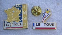 CYCLISME LE TOUR DE FRANCE 92  2 PIN'S       AAAA   063 - Radsport