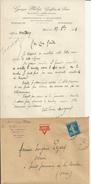 ILLIERS GEORGES PHILIP GREFFIER DE PAIX LETTRE ET ENVELOPPE AVEC CACHET ANNEE 1923 - Sin Clasificación