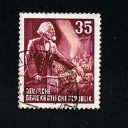 1953  70. Todestag Von Karl Marx Michel 350 Y II Seltenes Wasserzeichen Gestempelt O - Abarten