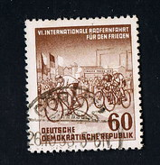 1953  Internationle Radfernfahrt Für Den Frieden Michel 357 Y II Seltenes Wasserzeichen Gestempelt O - Abarten