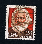 1953  70. Todestag Von Karl Marx Michel 349 Type II / Y I  Sauber Gestempelt O - DDR