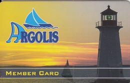 GREECE - Lighthouse, Argolis Yachts, Member Card, Sample - Lighthouses
