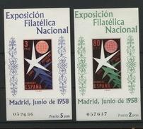ESPAGNE Bons Blocs 1958  Expo De Bruxelles  Yv.      Cote 90 € - Blocs & Feuillets