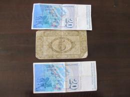 Lot De Billet Suisse Swiss Dont 2 De 20 Francs Suisse Et 5 Francs Anciens - Suisse