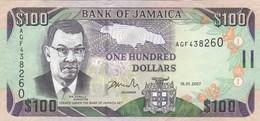 Jamaica 100 Dollars 2007 VF (free Shipping Via Regular Air Mail - Buyer Risk) - Jamaique