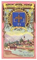 (Chromos) Chocolat Guérin-Boutron 006, Blason Armes Des Villes De France, Digne - Guérin-Boutron