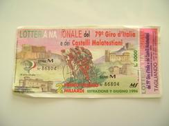 1996   GIRO D'ITALIA   SPORT  CICLISMO    BIGLIETTO LOTTERIA NAZIONALE  COME DAFOTO  CON TAGLIANDO  LOTTERY TICKET - Lottery Tickets