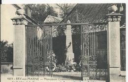 Brie Sur Marne    Monument Guerrte 1914-18 - Bry Sur Marne