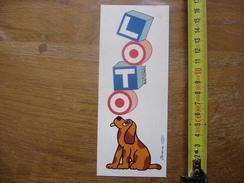 Autocollant Sticker LOTO NATIONAL CHIEN BOURDIER - Autocollants