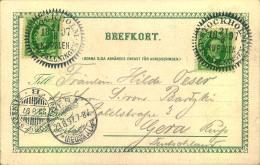 1897, Sonderkarte Mit Sonderstempel Zur Ausstellung In STOCKHOLM. Über Sassnitz-Trelleborg Nach Gera Gelaufen. - Sin Clasificación