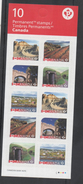 CANADA, 2017, MNH, UNESCO WORLD HERITAGE SITES IN CANADA, WHALING STATIONS, MOUNTAINS, S/A BOOKLET - Geography