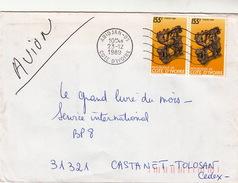 LETTRE.  COTE D'IVOIRE ABIDJAN PAIRE LE SAXOPHONISTE - Côte D'Ivoire (1960-...)
