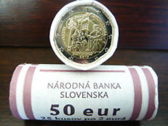 """Slovaquie 2017 : Rouleau De 25 Pièces De 2€ Commémo """"Université Istropolitaine""""  - DISPONIBLE EN FRANCE - Rollos"""
