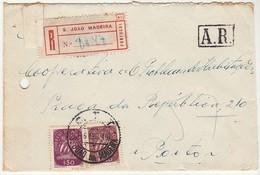 Cover * São João Da Madeira * 1949 * Registered * A.R. - 1910-... Republik