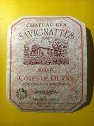 3586 - Château Les Savignattes 1990 Rosé  Côtes De Duras - Rosés