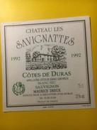 3588 -    Château Les Savignattes Côtes De Duras Sec Sauvignon - Blancs