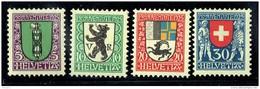 1925  Pro Juventute Ecussons St Gall, Rhodes Extérieures, Grisons, Suisse  Suisse   *  Charnières Légères - Unused Stamps
