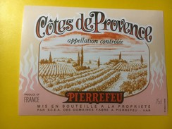 3595 -  Pierrefeu 1988  Côtes De Provence - Etiquettes