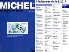 New Stamps Of The World MICHEL 3/2017 6€ Briefmarken Rundschau Catalogue/magacine Of Germany ISBN 978-3-95402-600-5 - Art