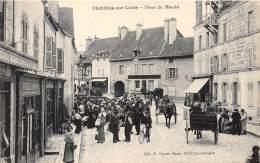 45 - LOIRET - CHATILLON SUR LOIRE - Place Du Marché - Belle Animation - Chatillon Sur Loire