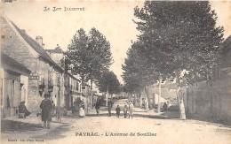 46 - LOT - PAYRAC - Avenue De Souillac - Beau Cliché Animé - France
