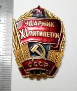PROPAGANDA Best Employee Of The 11th Five-Year Plan Soviet Union Metal Badge Pin USSR 1981-1985 - Associations