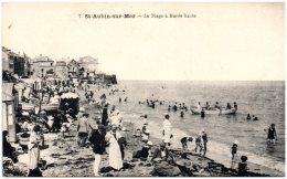14 SAINT-AUBIN-sur-MER - La Plage à Marée Haute    (Recto/Verso) - Saint Aubin