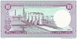 Syria P.101e   10 Pounds 1991 Unc - Siria
