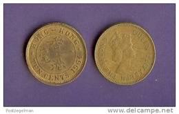 HONG KONG 1955-1968 Used Coin 10 Cents KM28.1 - Hong Kong