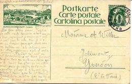 "30697 - Entier Postal Avec Illustration ""Kurhaus Sonn-Matt / Luzern Cachet à Date Champéry 1925 - Stamped Stationery"
